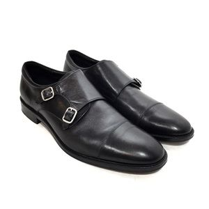 Gordon Rush Preston Black Leather Monk Strap Shoes